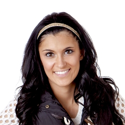 Hipsy Adjustable NO SLIP Bling Glitter Gold Skinny Headband