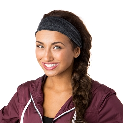 Hipsy Unisex Adjustable Spandex Xflex Heather Charcoal Headband