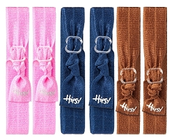 Hipsy Women's Adjustable Hair Ties Basic 6pk Pink, Navy & Brown