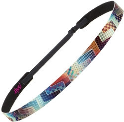 Hipsy Adjustable NO SLIP Patchwork Skinny Non-Slip Headband