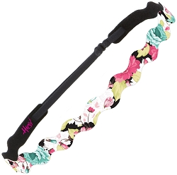 Hipsy Adjustable NO SLIP Spring Flowers Pink & Jade Wave Non-Slip Headband