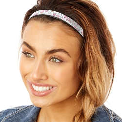 Hipsy Adjustable & Flexible No Slip Country Floral White Windshield Wiper Blades Headband