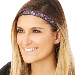 Hipsy Adjustable & Flexible No Slip Country Floral Plum Windshield Wiper Blades Headband