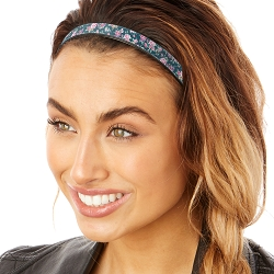 Hipsy Adjustable & Flexible No Slip Country Floral Teal Windshield Wiper Blades Headband