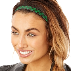 Hipsy Adjustable & Flexible No Slip St Patrick's Day Plaid Green & Black Windshield Wiper Blades Headband