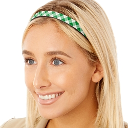 Hipsy Adjustable & Flexible No Slip St Patrick's Day Plaid Green & White Windshield Wiper Blades Headband