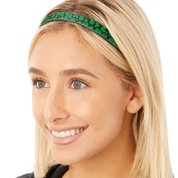 Hipsy Adjustable & Flexible No Slip St Patrick's Day Shamrocks on Black Windshield Wiper Blades Headband