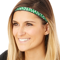 Hipsy Adjustable & Flexible No Slip St Patrick's Day Shamrocks on White Windshield Wiper Blades Headband
