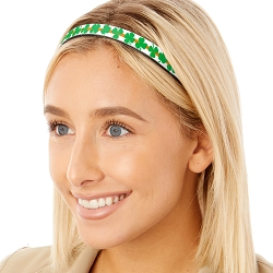 Hipsy Adjustable & Flexible No Slip St Patrick's Day Irish Shamrocks Windshield Wiper Blades Headband