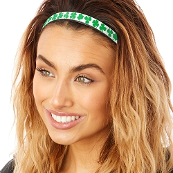Hipsy Adjustable & Flexible No Slip St Patrick's Day Large Shamrocks Windshield Wiper Blades Headband