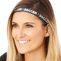 Hipsy Adjustable & Flexible No Slip Kicking Soccer Black Windshield Wiper Blades Headband