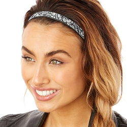 Hipsy Adjustable & Flexible No Slip Lace Black & White Windshield Wiper Blades Headband