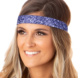 Hipsy Adjustable NO SLIP Bling Glitter Purple Wide Non-Slip Headband