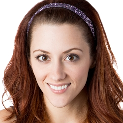 Hipsy Adjustable NO SLIP Bling Glitter Princess Skinny Non-Slip Headband