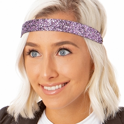 Hipsy Adjustable NO SLIP Bling Glitter Princess Wide Non-Slip Headband