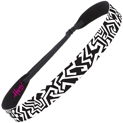 Hipsy Kids & Adult Coloring Bands Adjustable NO SLIP Graffiti Wide Non-Slip Headband