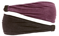 Best Birthday & Holiday Gifts for Girls! Crushed Black & Plum Xflex Headband Gift Set 2pk