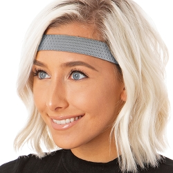 Hipsy Adjustable NO SLIP Geo Sport Gunmetal Wide Non-Slip Headband