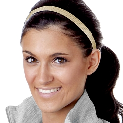 Hipsy Adjustable NO SLIP Geo Sport Gold Skinny Non-Slip Headband