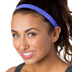 Hipsy Adjustable NO SLIP Geo Sport Royal Blue Skinny Non-Slip Headband
