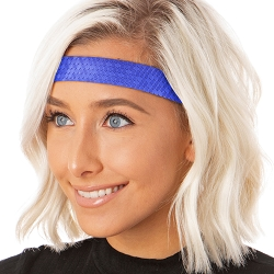 Hipsy Adjustable NO SLIP Geo Sport Royal Blue Wide Non-Slip Headband