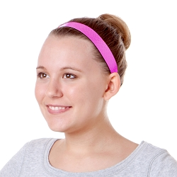 Hipsy Adjustable NO SLIP Neon Snakeskin Pink Wide Non-Slip Headband