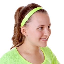 Hipsy Adjustable NO SLIP Neon Snakeskin Yellow Wide Non-Slip Headband