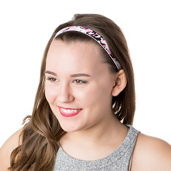 Hipsy Adjustable NO SLIP Retro Camo Pink Skinny Non-Slip Headband