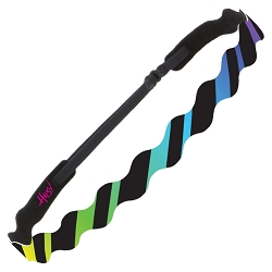 Hipsy Adjustable NO SLIP Rainbow Stripes Black Wave Non-Slip Headband