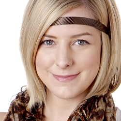 Hipsy Adjustable NO SLIP Tech Sport Brown Skinny Non-Slip Headband