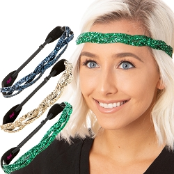 Hipsy Irish Green Hairbands St Patricks Day Accessories Headband Gift Packs (Braided Navy/Gold/Green 3pk)