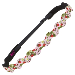 Hipsy Adjustable NO SLIP Strawberries Pink Wave Non-Slip Headband