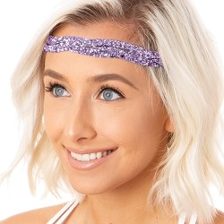 Hipsy Adjustable NO SLIP Bling Glitter Princess Braided Non-Slip Headband