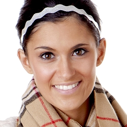 Hipsy Adjustable NO SLIP Smooth Glitter Silver Wave Non-Slip Headband
