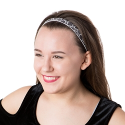 Hipsy Adjustable NO SLIP Vintage Tapestry Grey & Black Skinny Non-Slip Headband
