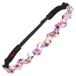 Hipsy Adjustable NO SLIP Watercolor Floral Pink Wave Non-Slip Headband