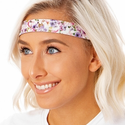 Hipsy Adjustable NO SLIP Watercolor Floral Pink Wide Non-Slip Headband