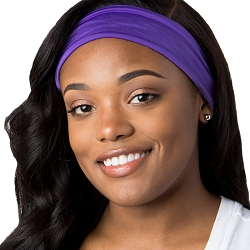 Hipsy Unisex Adjustable Spandex Xflex Basic Purple Headband