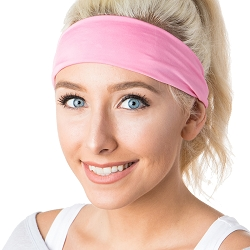 Hipsy Unisex Adjustable Spandex Xflex Basic Pink Headband