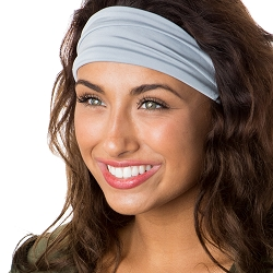 Hipsy Unisex Adjustable Spandex Xflex Basic Light Grey Headband