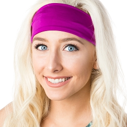 Hipsy Unisex Adjustable Spandex Xflex Basic Fuchsia Headband