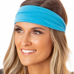 Hipsy Unisex Adjustable Spandex Xflex Basic Blue Headband