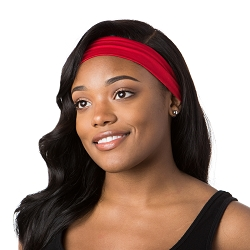 Hipsy Unisex Adjustable Spandex Xflex Basic Red Headband