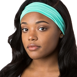 Hipsy Unisex Adjustable Spandex Xflex Basic Mint Headband