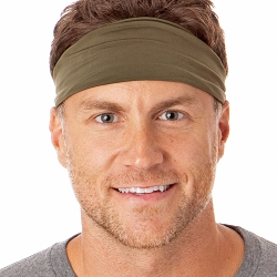 Hipsy Unisex Adjustable Spandex Xflex Basic Olive Headband