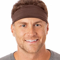 Hipsy Unisex Adjustable Spandex Xflex Basic Brown Headband