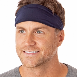 Hipsy Unisex Adjustable Spandex Xflex Basic Navy Headband