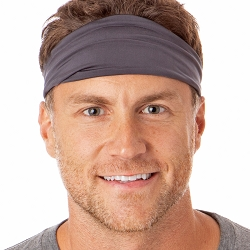 Hipsy Unisex Adjustable Spandex Xflex Basic Dark Grey Headband