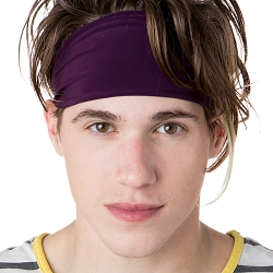 Hipsy Unisex Adjustable Spandex Xflex Basic Plum Headband