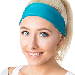 Hipsy Unisex Adjustable Spandex Xflex Basic Teal Headband